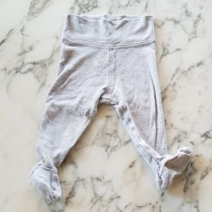 Grey Baby Footed Leggings, Size 4-6 Months